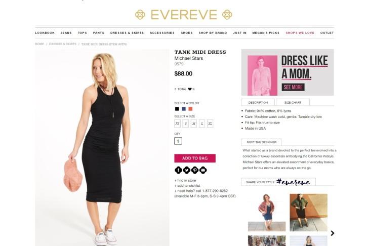 Evereve Dress 5.10.17